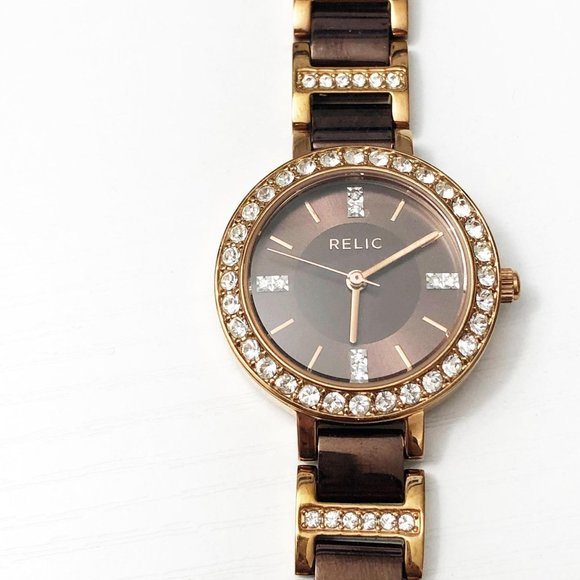 Relic by Fossil ZR34144 Copper & Gold Watch